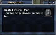 Rusted Prison Door