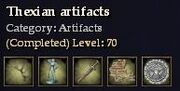 Thexian artifacts