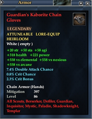 Guardian's Kaborite Chain Gloves