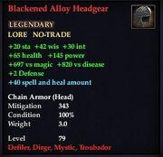 Blackened Alloy Headgear