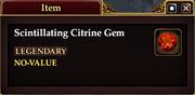 Scintillating Citrine Gem