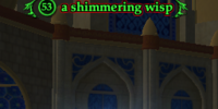 A shimmering wisp