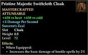 Pristine Majestic Swiftcloth Cloak