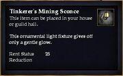Tinkerer's Mining Sconce