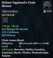Defiant Vagabond's Chain Helmet