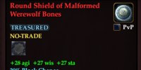 Round Shield of Malformed Werewolf Bones