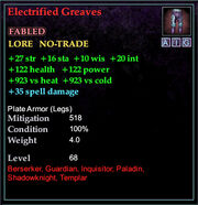 Electrified Greaves