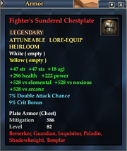 Fighter's Sundered Chestplate