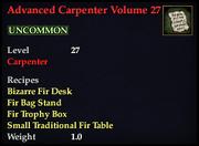 Advanced Carpenter Volume 27