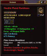 Double Plated Pauldrons