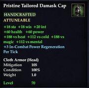 Pristine Tailored Damask Cap