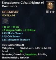 Executioner's Cobalt Helmet of Dominance