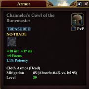 Channeler's Cowl of the Runemaster