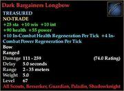 Dark Bargainers Longbow