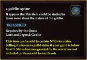 A goblin spine