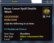 Focus- Lesser Spell Double Attack