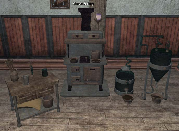 Station Stove and Keg