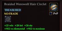 Braided Werewolf Hair Circlet