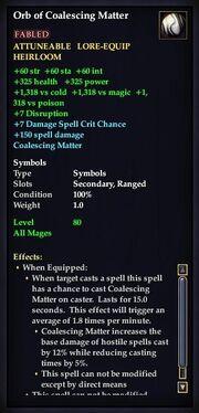 Orb of Coalescing Matter