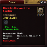 Disciple's Blackened Iron Skullcap