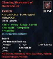 Glancing Shortsword of Hardened Ice
