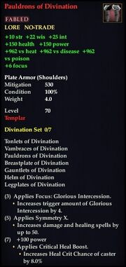 Pauldrons of Divination