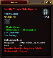 Saintly Vicar's Plate Greaves