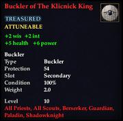 Buckler of The Klicnick King