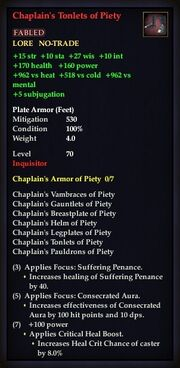 Chaplain's Tonlets of Piety