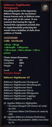 Kithicor's Nighthunter Wristguards
