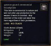 Qeynos guard ceremonial breastplate