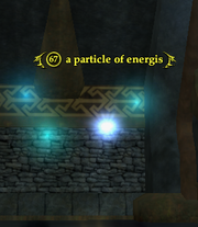 A particle of energis