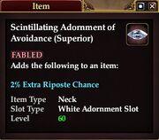 Scintillating Adornment of Avoidance (Superior)