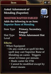 Astral Adornment of Mending (Superior)