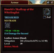 Hanshi's Skullcap of the Whirlingfist