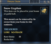 Snow Gryphon (House Item)
