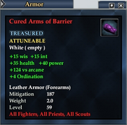 Cured Arms of Barrier