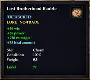 Lost Brotherhood Bauble