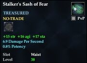 Stalker's Sash of Fear