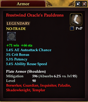 Frostwind Oracle's Pauldrons