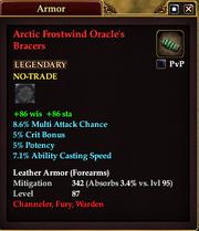 Arctic Frostwind Oracle's Bracers