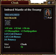 Imbued Mantle of the Swamp
