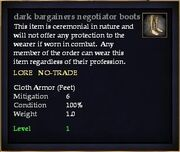 Dark bargainers negotiator boots