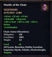 Mantle of the Orate