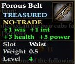 Porous Belt