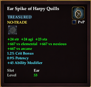 Ear Spike of Harpy Quills