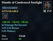 Mantle of Condensed Sunlight