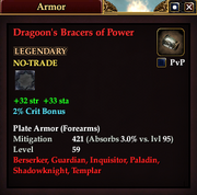 Dragoon's Bracers of Power