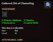 Gathered Orb of Channeling