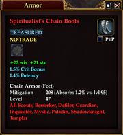 Spiritualist's Chain Boots